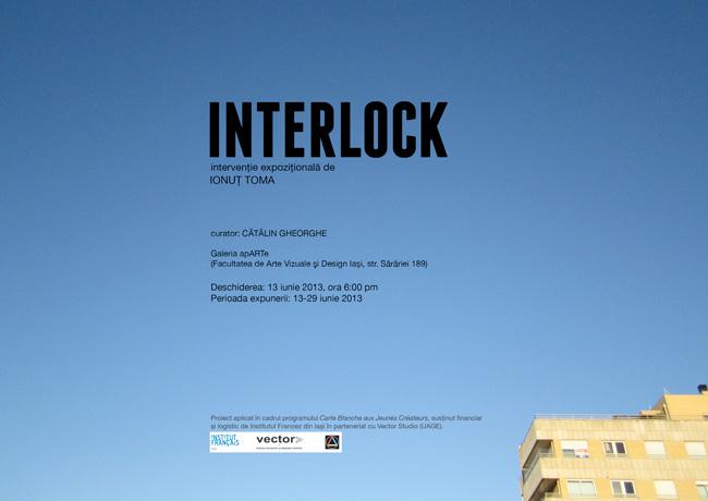"""Ionuţ Toma """"Interlock"""" @ Galeria apARTe, Facultatea de Arte Vizuale şi Design, Iași"""