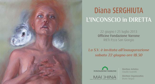 """Diana Serghiuţă """"Înconștientul în direct"""" @ Galleria Machina, Rieti, Italia"""
