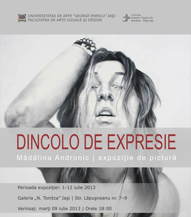 """Expoziţia de pictură """"Dincolo de expresie"""", Mădălina Andronic @ Galeria """"N. Tonitza"""" din Iaşi"""
