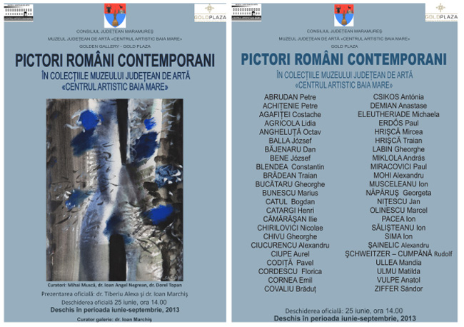 Pictori români contemporani în colecţiile Muzeului Judeţean de Artă «Centrul Artistic Baia Mare»