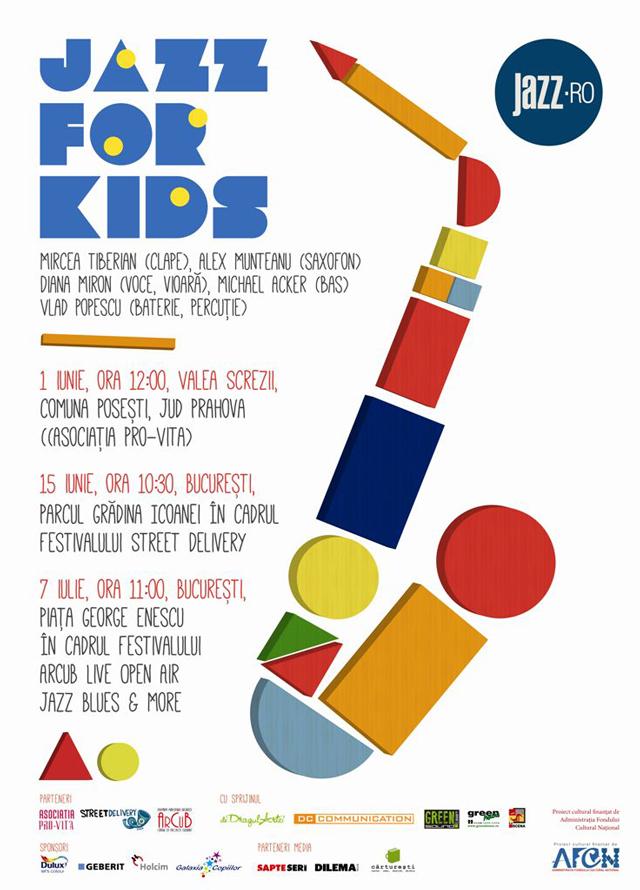 JAZZ FOR KIDS – proiect muzical în premieră în România