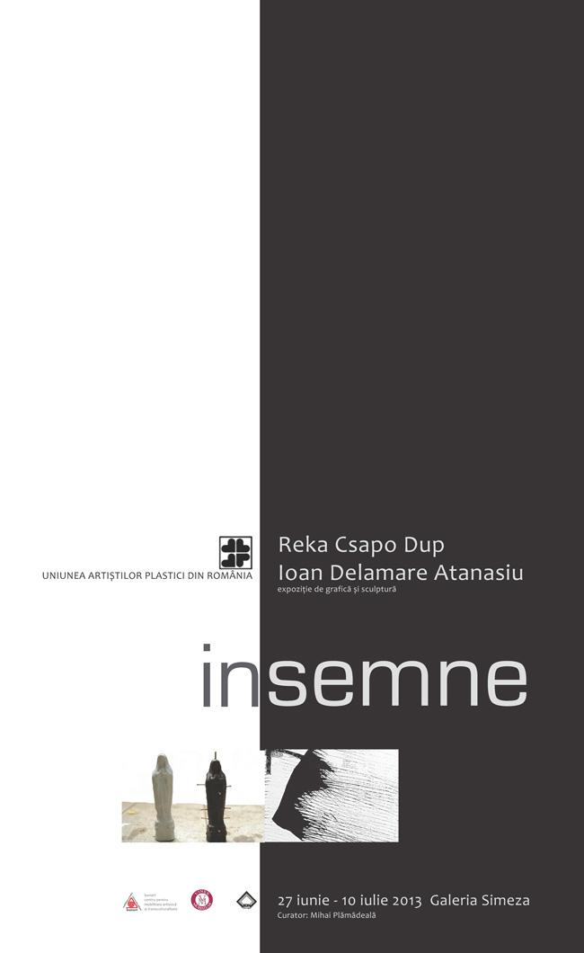 """""""Însemne"""" – Reka Csapo Dup și Ioan Delamare Atanasiu @ Galeria Simeza, București"""