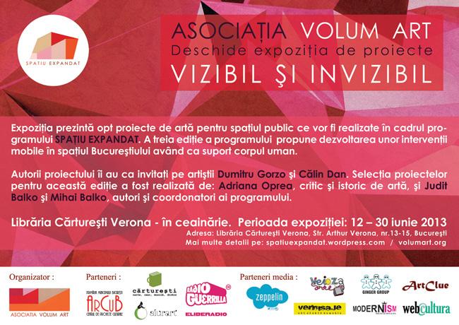 """""""Spaţiu expandat. Vizibil şi invizibil"""" @ Librăria Cărtureşti Verona, București"""