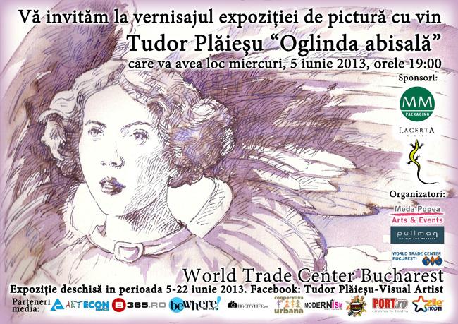 """""""Oglinda abisala"""", expoziție de pictură cu vin semnată Tudor Plăieșu @ Hotel Pullman World Trade Center Bucharest"""