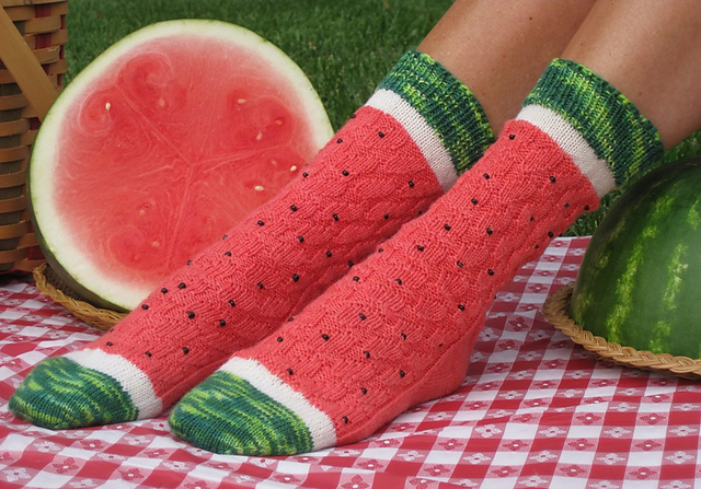 Watermelon Slice Socks