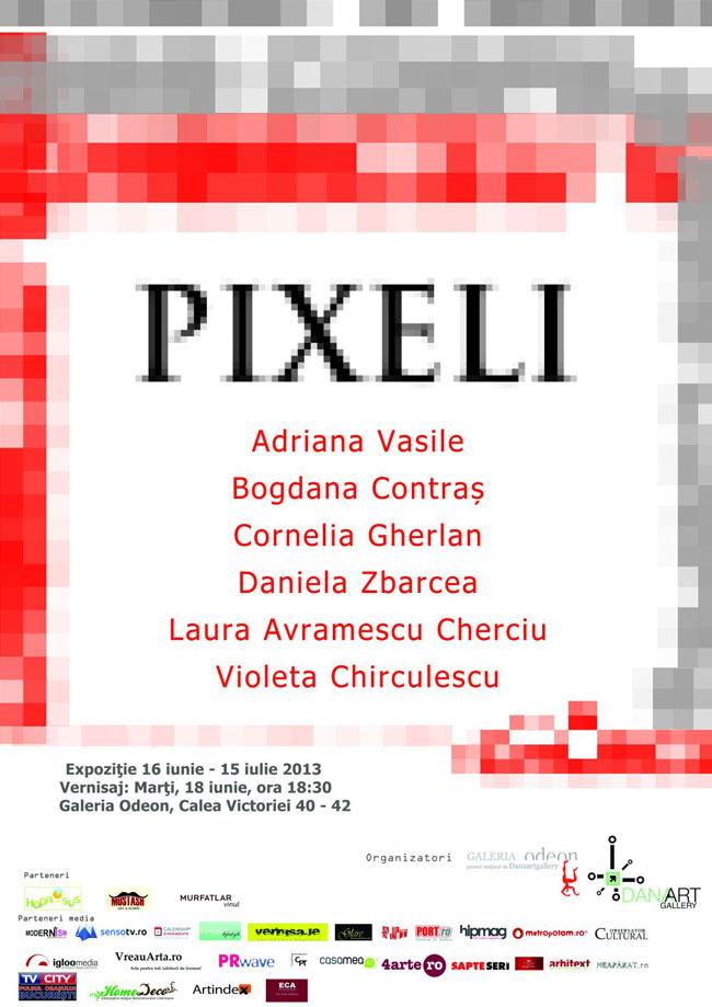 """Expoziția de grup """"Pixeli"""" @ Galeria Odeon, București"""