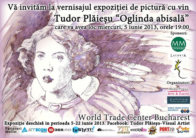 """Oglinda abisala"", expozitie de pictura cu vin semnata Tudor Plaiesu by Meda Popea – Arts & Events"