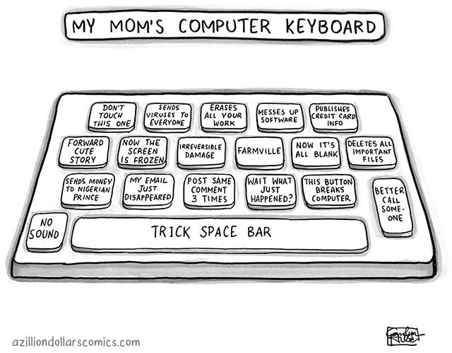 My Mom's Computer Keyboard