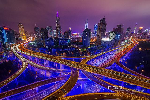 Vast urban jungle of Shanghai by Rob Whitworth