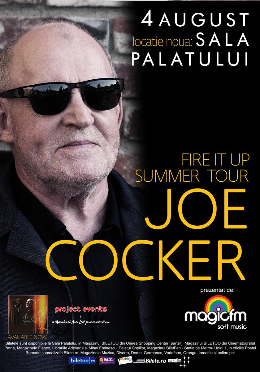 Joe Cocker concertează la Bucureşti săptămâna viitoare