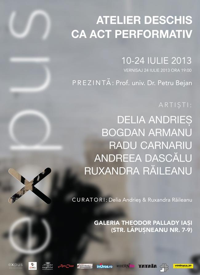 EXPUS | Atelier deschis ca act performativ @ Galeria Theodor Pallady, Iaşi