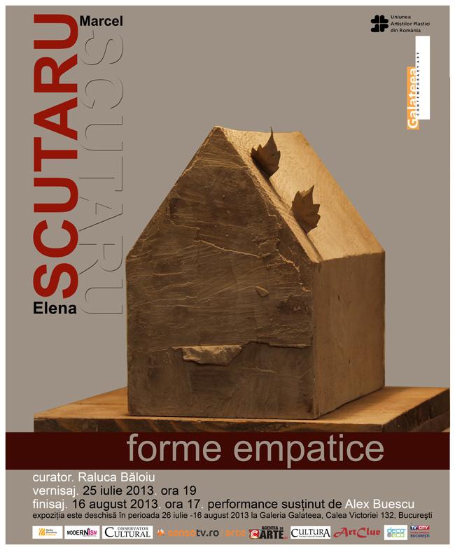 """Elena și Marcel Scutaru """"Forme empatice"""" @ Galeria Galateea, București"""