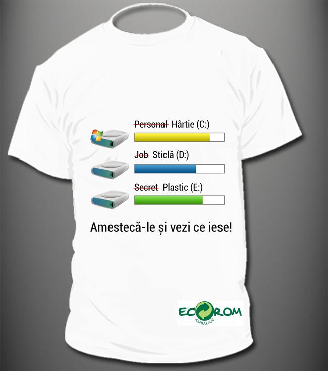 """Concursul """"Design de tricou pe tema colectării separate și a reciclării deșeurilor de ambalaje"""" și-a desemnat câștigătorii"""