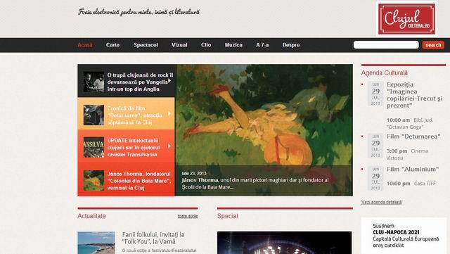 Un nou site de cultură la Cluj Napoca: clujulcultural.ro