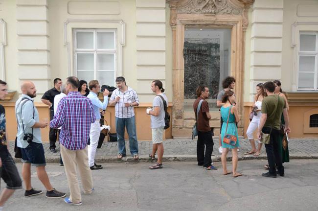 """Robert Zsombori, """"Implozie 7""""@ galeria """"geam MAT"""" a Muzeului de Artă din Timișoara"""