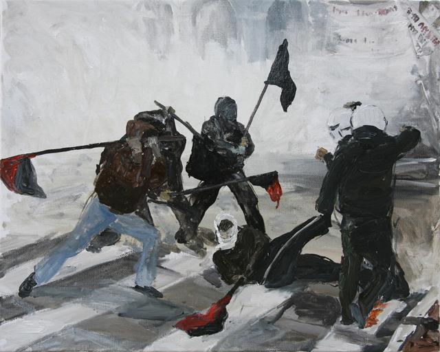 Powerlessness, a Situation. Democracia, Revolutie & Polizey @ Frankfurter Kunstverein. Participating artists: Mona Vătămanu & Florin Tudor