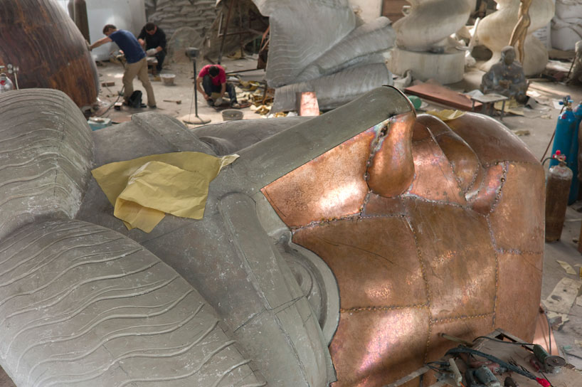 Statue of Liberty reproduced in a life-size installation by Danh Vo
