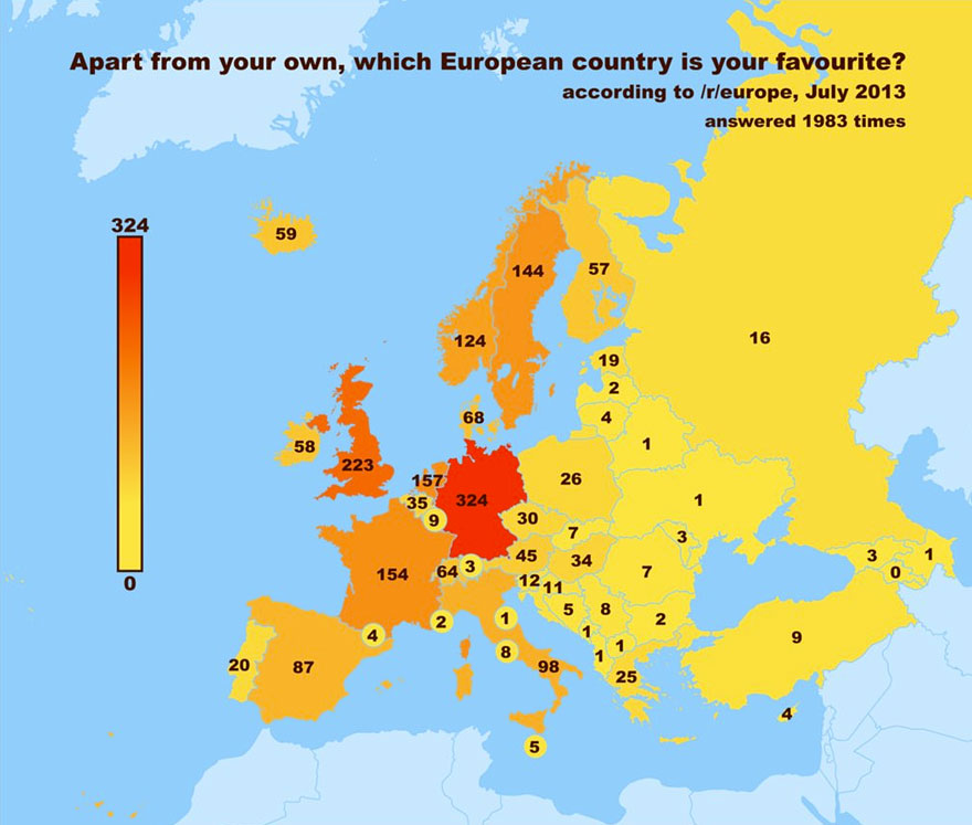 Poll Reveals Europe's Drunkest, Hottest and Silliest-Sounding Countries