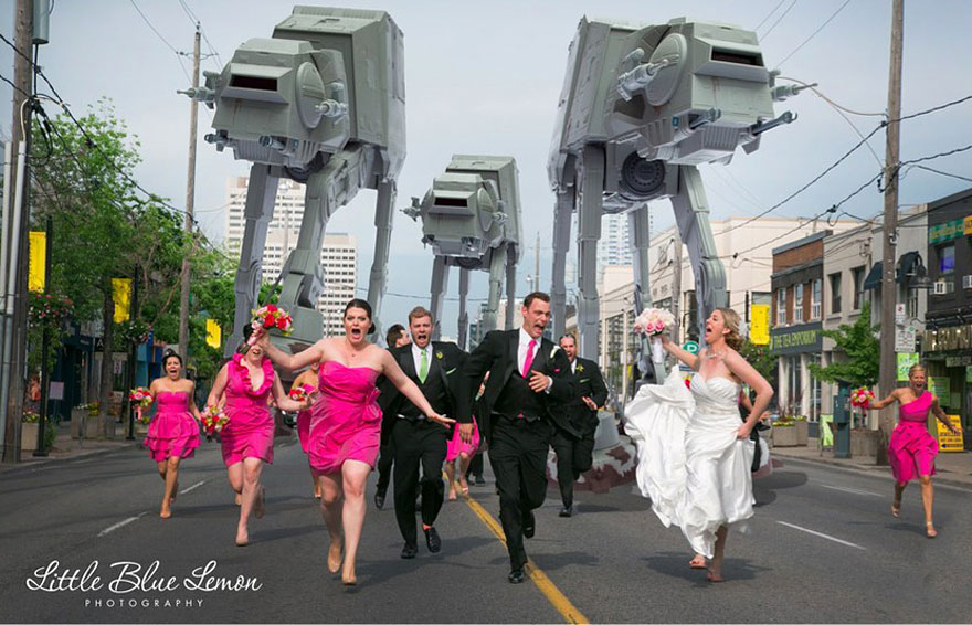 Newest Trend: Crazy Wedding Party Attack Pictures