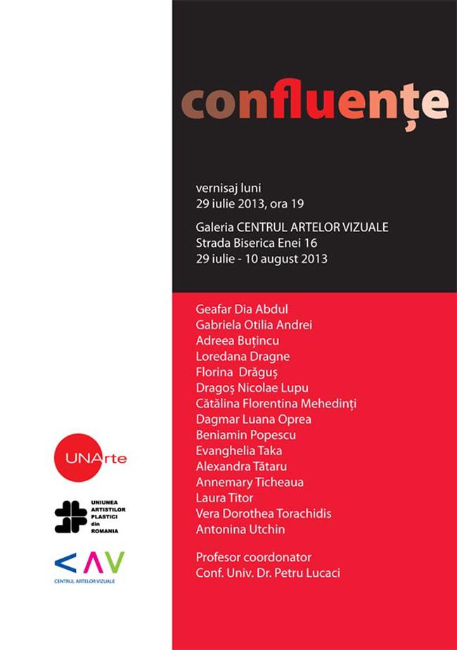 """""""Confluențe"""" @ Galeria Centrul Artelor Vizuale, București"""