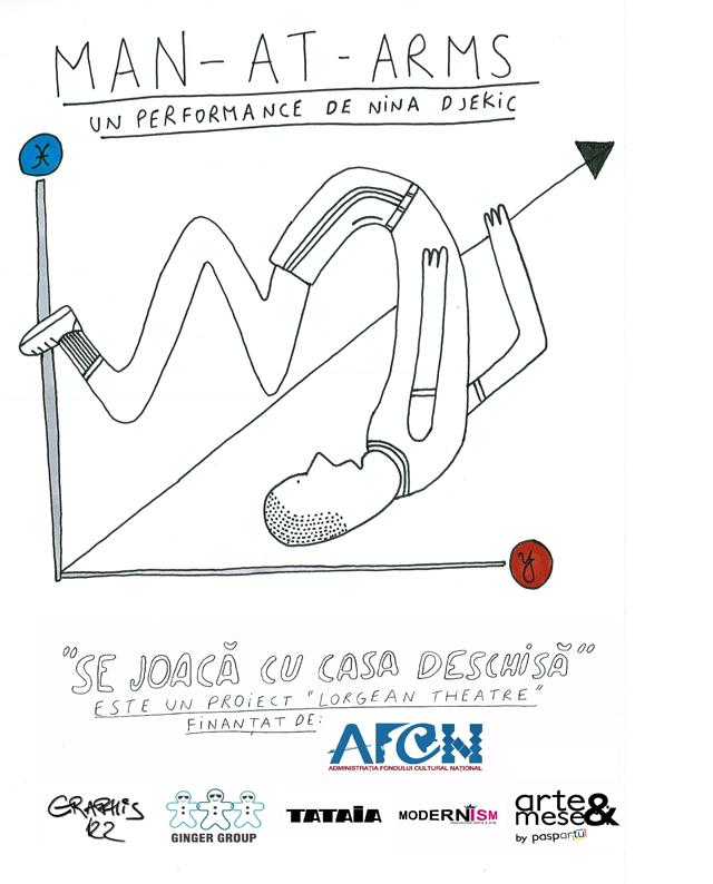 """Lorgean Theatre prezintă """"Man-At-Arms"""", un performance de Nina Djekic"""