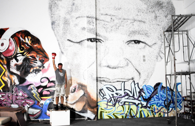 Monumental Tribute to Nelson Mandela by Phil Akashi