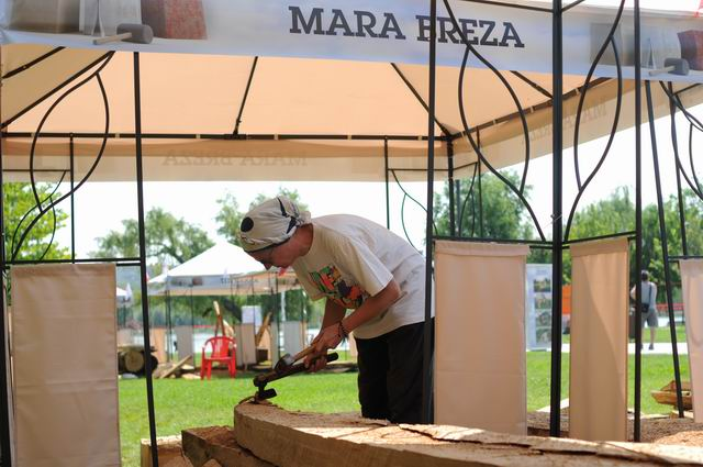Mara Vilceanu Breza – sculptura in lemn – work in progress