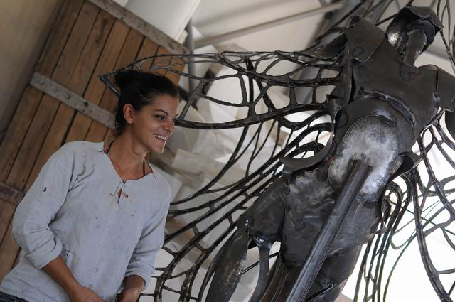 Misha Diaconu – sculptura in metal – work in progress