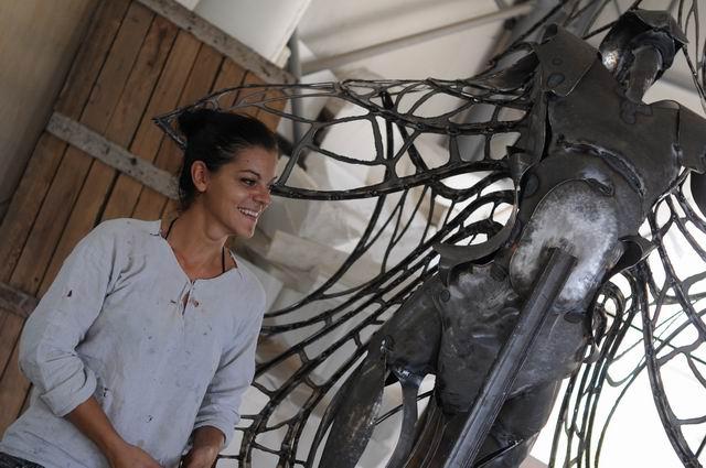 Misha Diaconu – sculptura in metal – work in progress