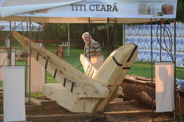 Titi Ceara – sculptura in lemn – work in progress