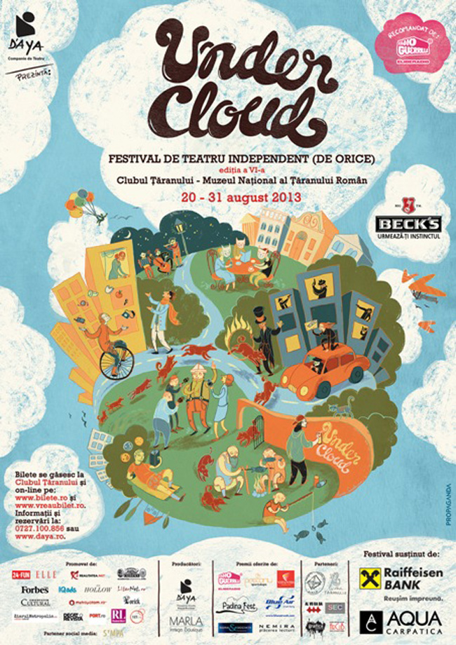 Începe UnderCloud 2013 – Festival de Teatru Independent (de orice)