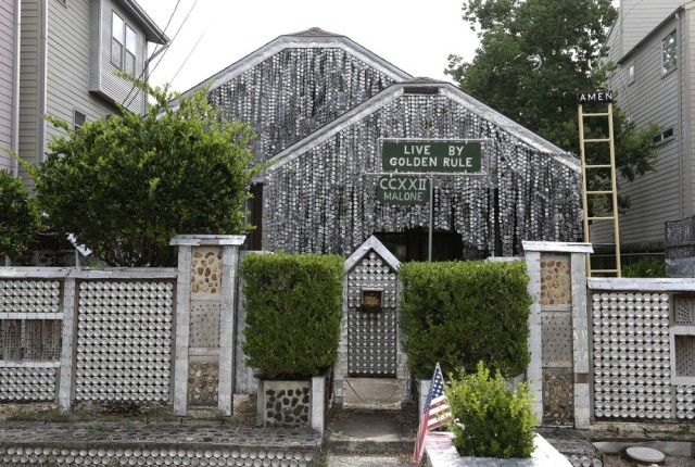 Beer Can House, Houston Home Covered in 50,000 Beer Cans