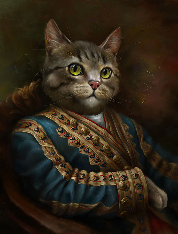 Classy Portraits of Cats Portrayed As Royalty