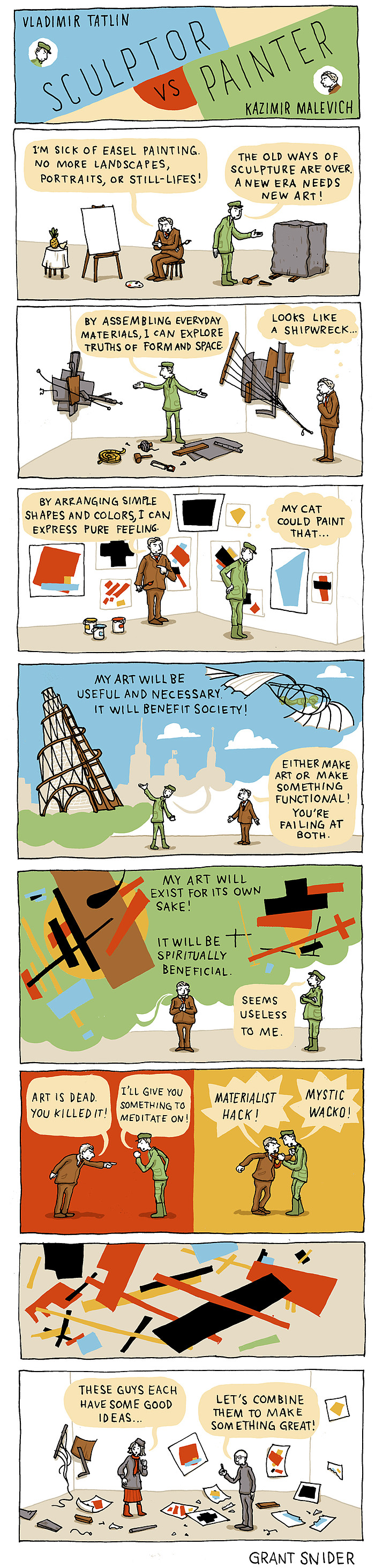 Sculptor vs. Painter