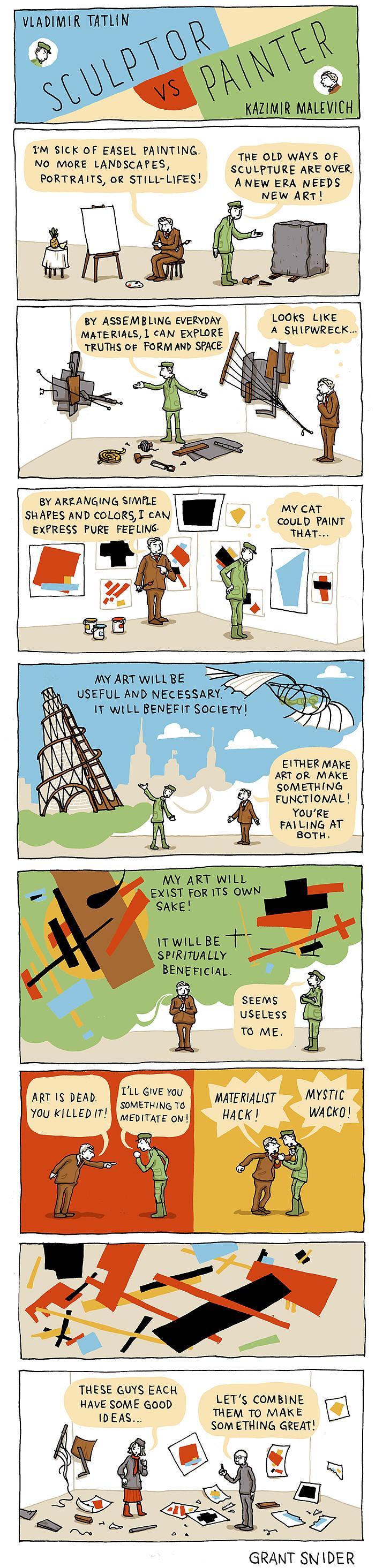 Sculptor vs. Painter