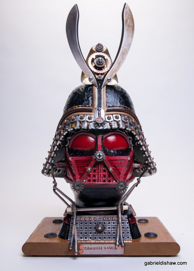 Star Wars Helmets Sculpted From Recycled Machine Parts