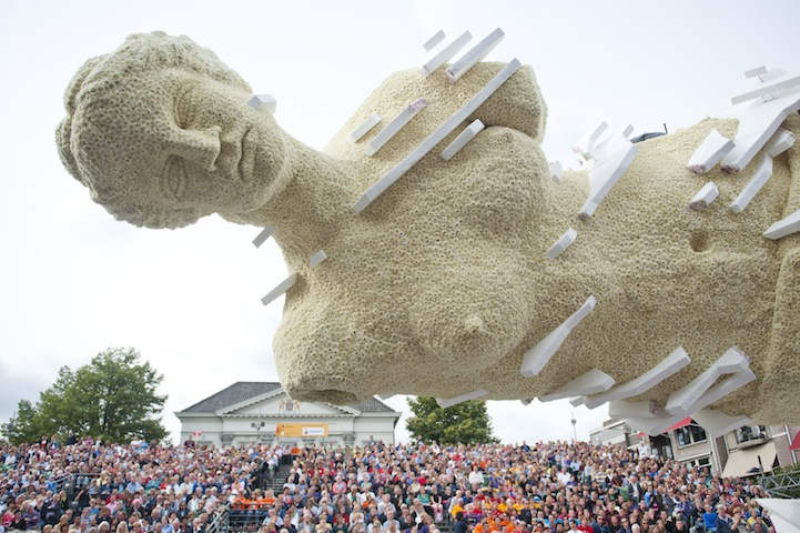Giant Flower Sculptures at the 2013 Corso Zundert Parade in the Netherlands