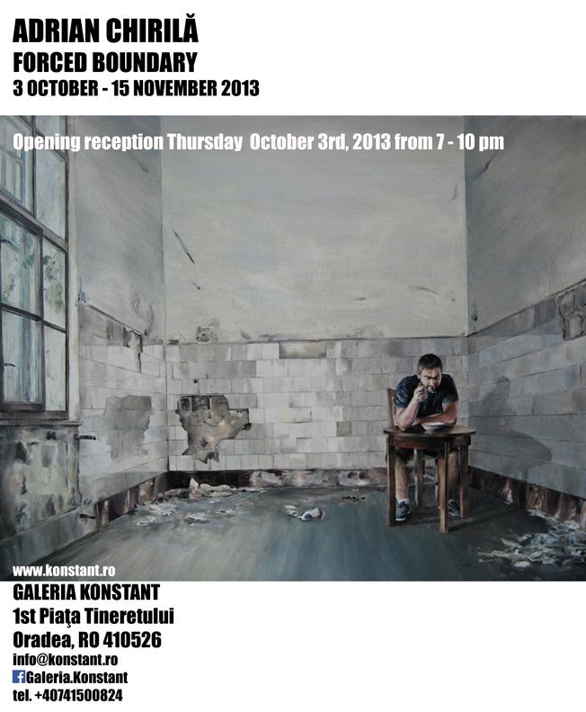 """Adrian Chirilă, """"Forced Boundary"""" @ Galeria Konstant, Oradea"""