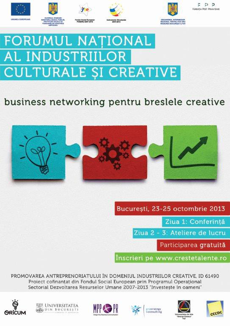Forumul Național al Industriilor Culturale și Creative la București
