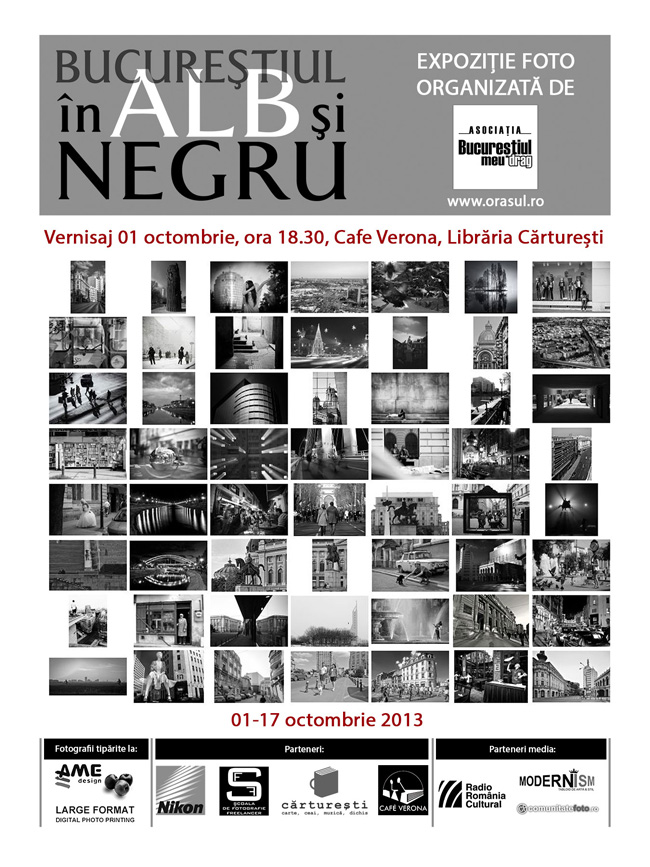 """Expoziția de fotografie """"Bucureștiul în alb și negru"""" @ Librăria Cărturești, Verona, București"""