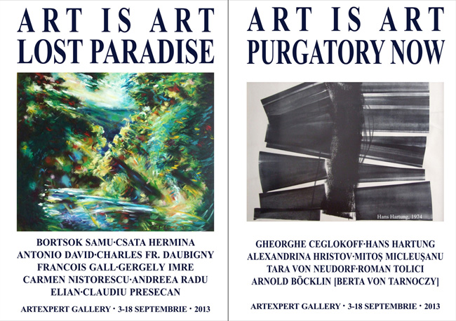"""ART IS ART, LOST PARADISE / PURGATORY NOW"" @ ""Artexpert Gallery"" din Cluj-Napoca"