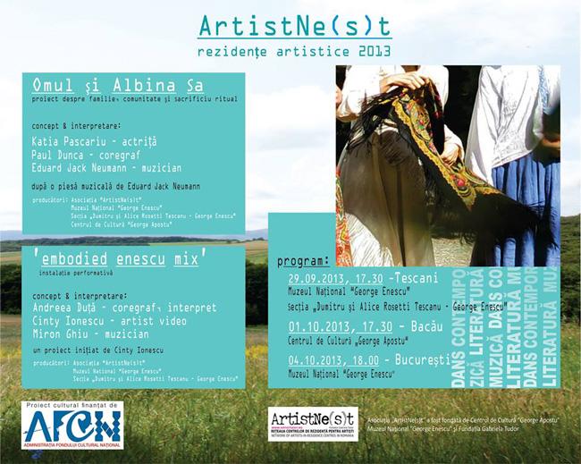 ArtistNe(s)t 2013 – premiere și turneu național la Tescani, Bacău și București