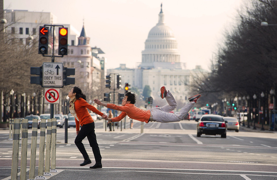 Ballet Dancers In Everyday Situations