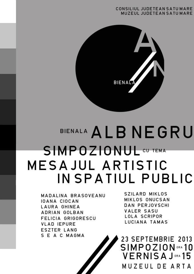 Bienala ALB/NEGRU, ediția a-III-a @ Muzeul de Artă Satu Mare