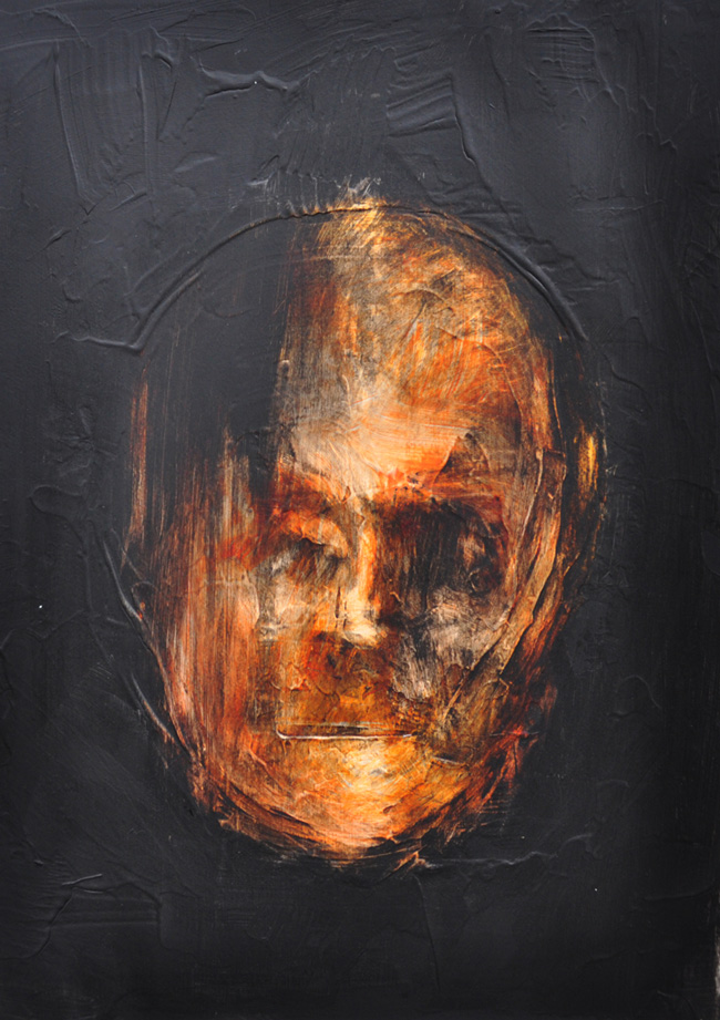 "Botond Részegh ""Nightfall (Heads)"" @ Gallery IX, Budapest"