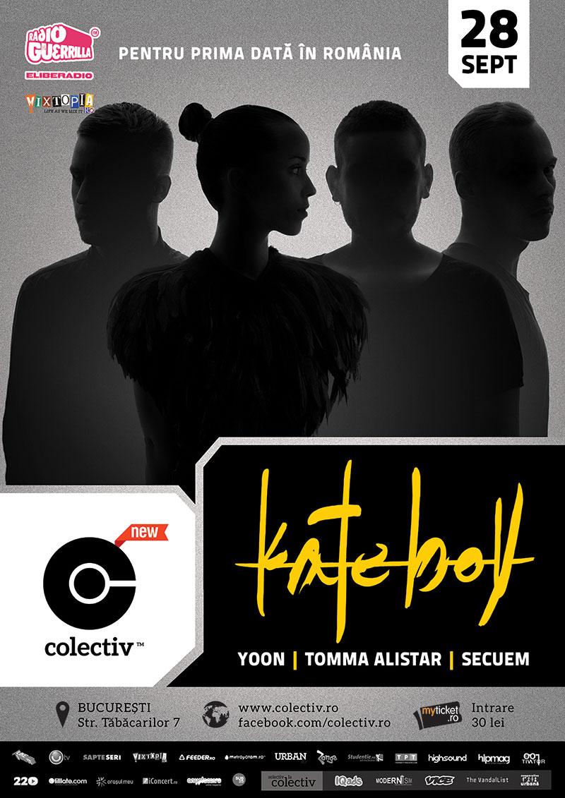 Grupul KATE BOY din Stockholm, prima venire în România @  clubul Colectiv București