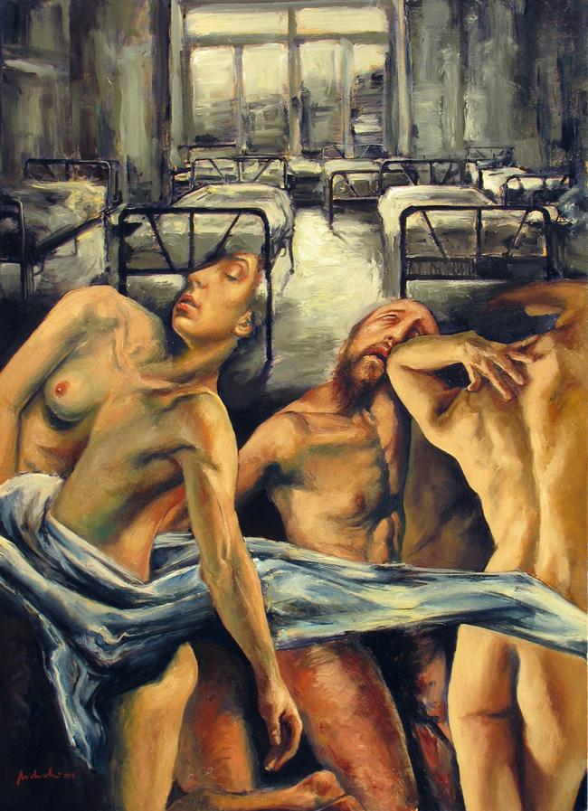 """Laurenţiu Midvichi """"Studii despre orbire"""" @ Galeria Millennium, Lisabona, imagini"""