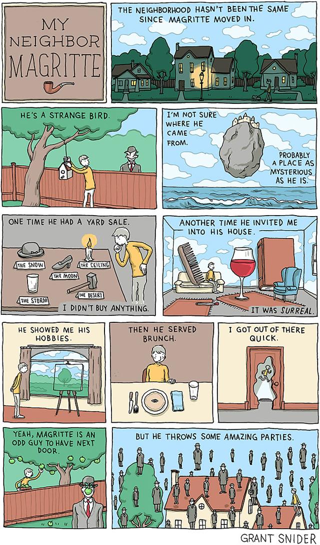My Neighbor Magritte, A Comic About Living Next Door to Surrealist Artist René Magritte
