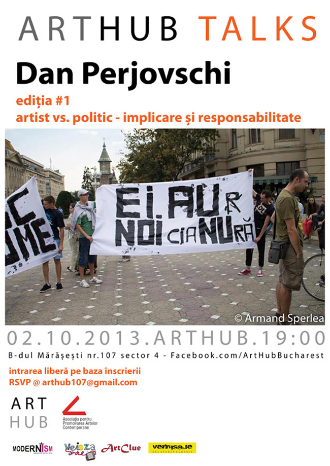ART HUB Talks ediția #1, invitat Dan Perjovschi