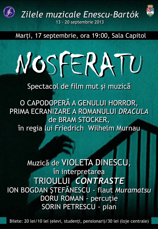 Nosferatu: spectacol de film mut și muzică @ Sala Capitol Timișoara